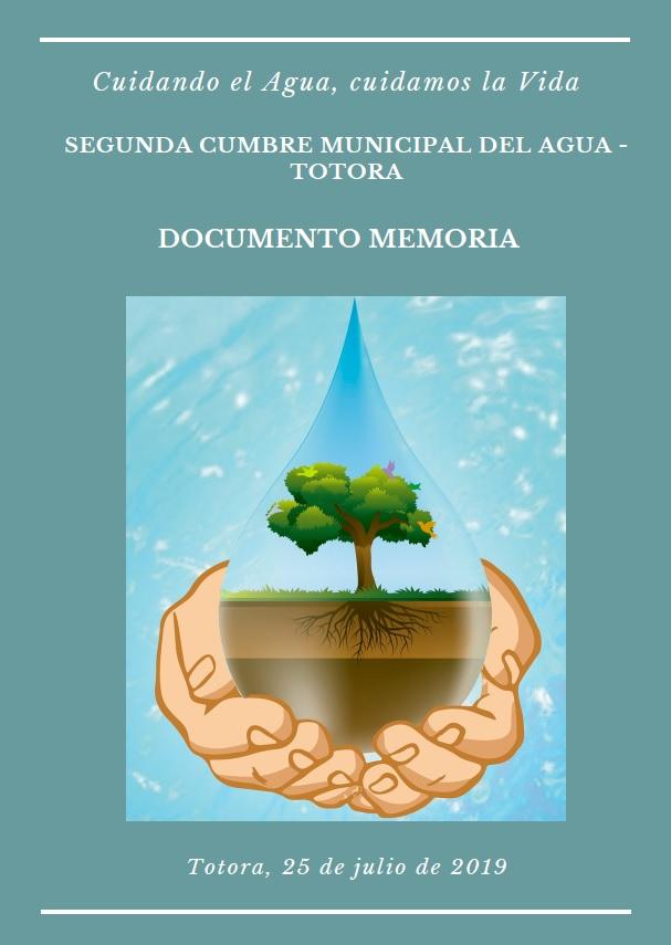 Memoria II Cumbre Municipal del Agua en Totora